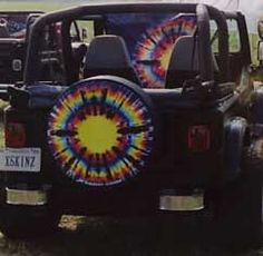 All Things Jeep - Spare Tire Cover - Tie Dye