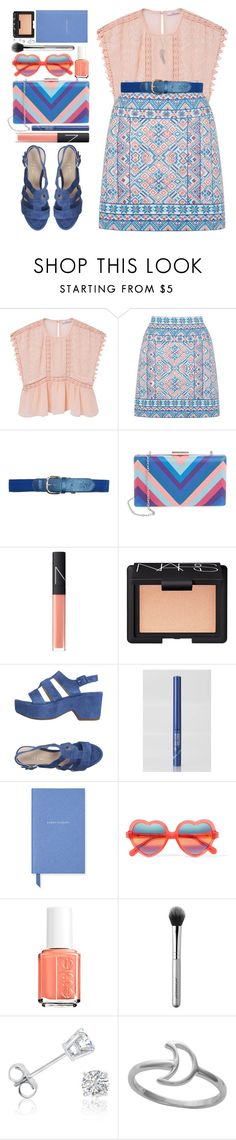 """""""#913 Manon"""" by blueberrylexie ❤ liked on Polyvore featuring MANGO, Oasis, La Regale, NARS Cosmetics, Unisa, TONYMOLY, Smythson, Cutler and Gross, Essie and Japonesque"""