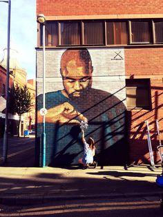 Image result for kanye west mural belfast