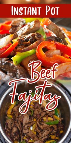 Are you in the mood for some Mexican food but you don't feel like leaving the house? Don't worry! With this fabulous Instant Pot Beef Fajitas recipe, you'll have the best & freshest Mexican cuisine right in your kitchen.    If you feel a bit inexperienced in cooking Mexican delights, I have a few tips and tricks that can help along the way. Vegan Recipes Easy, Mexican Food Recipes, Crockpot Recipes, Kale Recipes, Roast Recipes, Drink Recipes, Dinner Recipes, Best Pressure Cooker Recipes, Instant Pot Pressure Cooker