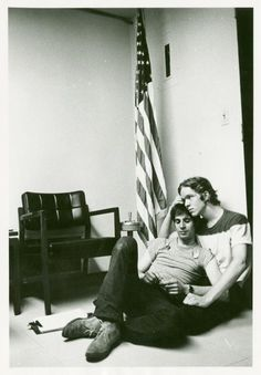 members of the gay activists alliance holding a sit-in at new york state republican headquarters in new york city in 1970