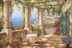 Morning Terrace by Sung Kim