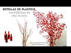 Cómo hacer un árbol con botellas de plástico - How to make a tree out of recycled plastic bottles - YouTube