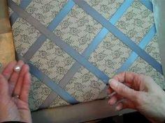 Fabric & Ribbon Covered Bulletin Board - YouTube