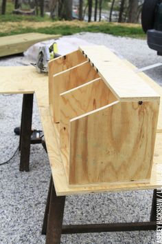 Building nesting boxes for our chicken coop. A classic nesting box design for the modern chicken coop. How to build a better coop using a shed! Portable Chicken Coop, Best Chicken Coop, Backyard Chicken Coops, Chicken Coop Plans, Building A Chicken Coop, Chickens Backyard, Chicken Shed, Clean Chicken, Chicken Tractors
