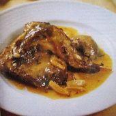 Kouneli me Aspri Saltsa: Rabbit in a Wine and Garlic Sauce