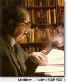 Adler, enjoying a cigar while studying
