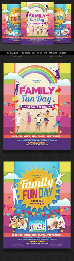 family fun day flyers by designworkz on creativemarket flyers pinterest flyer template. Black Bedroom Furniture Sets. Home Design Ideas