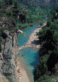 Paisaje de estrecho del río Mijares, Montanejos, Castellónañ