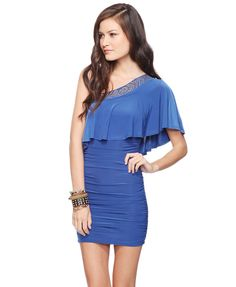 I really need an asymmetrical dress like this one...and it's royal blue, which makes it perfect!