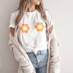 Flower Power Organic T-shirt - S / White