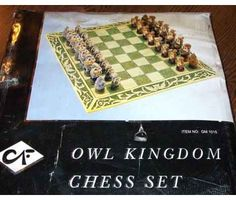 OMG! Owl chess set!