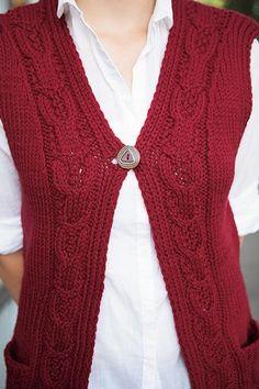 Bryant Park Vest - Knitting Patterns and Crochet Patterns from KnitPicks.com