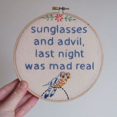 Embroidered Rap Lyrics -- This is hysterical!!