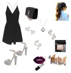 """Little black dress "" by campaigndessie on Polyvore featuring Topshop, Prada, Yves Saint Laurent, Pandora, Vivienne Westwood, Bobbi Brown Cosmetics, Illamasqua, women's clothing, women and female"