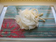 Hey, I found this really awesome Etsy listing at https://www.etsy.com/listing/167556506/shabby-rustic-baby-headband-in