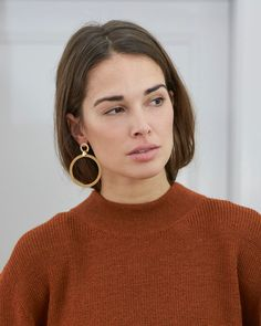 F R A N C A x C L O M E S – Visuale #clomes Design Lab, Branding Design, Turtle Neck, Drop Earrings, Hoop, Model, Products, Fashion, Italy
