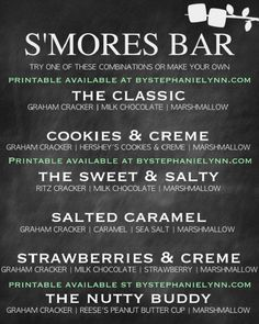 SMORES BAR PARTY PRINTABLE bystephanielynn.com