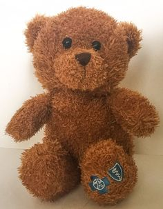 Steven Smith Blue Cross Shield Fuzzy Brown Teddy Bear Plush Stuffed Animal #StevenSmith #AllOccasion