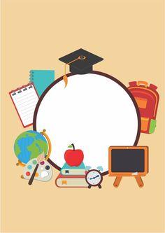Theme Background, Background Patterns, Teachers Day Poster, Graphic Design Lessons, 1 Clipart, School Border, School Advertising, Powerpoint Background Design, Kindergarten Design