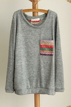 DIY: sew an indie frocket on a big sweater