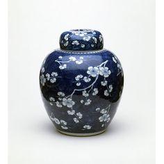 Porcelain Jar, decorated in under glaze blue. Jingdezhen, Jiangxi, China (1662-1722) V&A, Victoria and Albert Museum, London