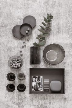 Moodboards in grey & white  