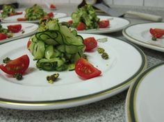 Zucchini takes on an elegant presentation in this @foodandstyle inspired vegan recipe