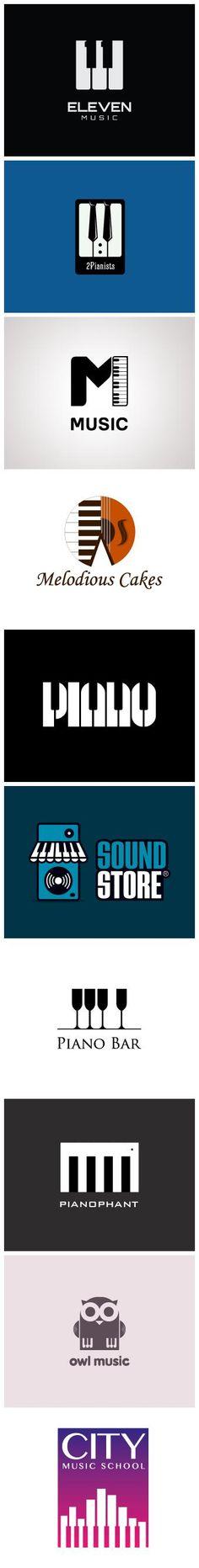 Creative Piano Logos