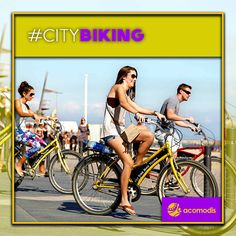 Take advantage of the good weather and discover Barcelona by bike.