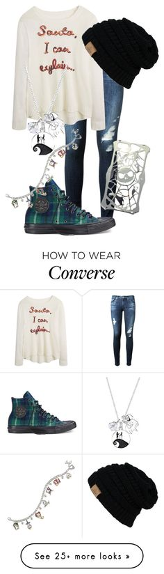 """""""Untitled #201"""" by rumbelle66 on Polyvore featuring AG Adriano Goldschmied, Converse, Disney and The Bradford Exchange"""
