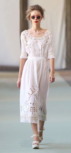 S/S 2012 Luisa Beccaria--beautiful vintage inspiration--would line it.
