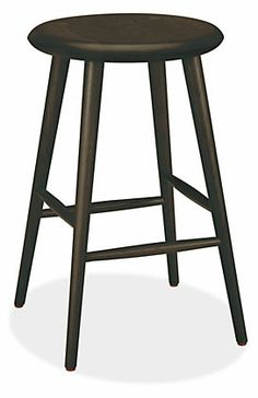 Logan Counter Stool in Maple with Charcoal Stain -