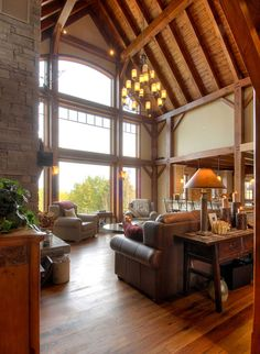 Timber Frame Interior Design - Normerica Authentic Timber Frame