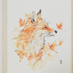 """""""The  Queen""""  Daniel Smith Watercolour on Canson Montval 300gsm  #fox #watercolor #watercolour #art #artwork #painting #illustration by #jongkie"""