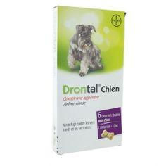 Comprimé Anti Puce Et Tique Pour Chien Bayer Drontal Chien Vermifuge Arome Viande X6 Comprimes Tique Chien Anti Tique Chien Chien