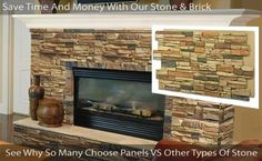 """Alpi Stone Veneer Panels 24 - several kinds of """"rock"""" panels that may work on the chimney"""