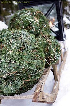 Balls made of pine.