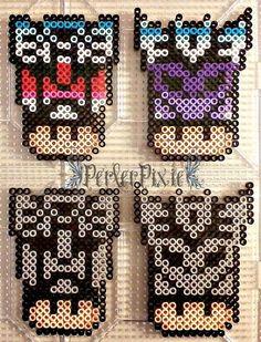 Transformers mushrooms perler beads by PerlerPixie