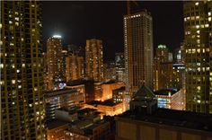 The view from our #EnvChicago property at night.