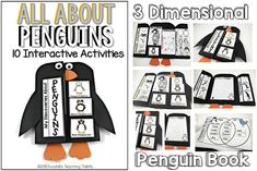 If you've been with me the last two years, I have been creating science and social studies interactive books. These help teach those standards while providing a cross curricular structure and routine! Interactive Activities, Preschool Activities, Interactive Books, Science Books, Science Lessons, Penguin Research, First Grade Themes, All About Penguins, 1st Grade Science