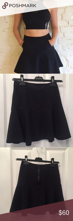 Lululemon Get It On Skirt This cute skirt is sized 6 and I thought I could pull it off but it's much to large for me. BRAND NEW WITHOUT TAGS! I WANT TO TRADE FOR A SIZE 4! Features kangaroo style pocket in the front, a cute A-line fit, reverses to navy blue on underside (no underwear or shorts connected) and is made of a water-repellant silky material. So adorable. No damages or flaws to note -- any other questions? Ask lululemon athletica Skirts A-Line or Full
