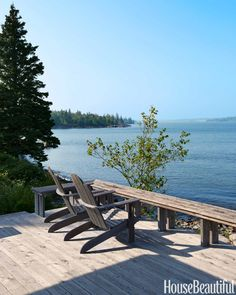 The deck is one of the most inviting spots at the newly built guesthouse.