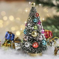 fairy garden christmas tree miniature by MiniatureFairyDreams