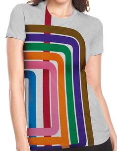 Chicago L Loop Stripe Women's T-Shirt. $28.00, via Etsy.
