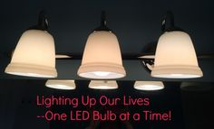 Lighting up Our Lives--Using LED bulbs to brighten our rooms and save us money.