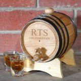 Personalized Bluegrass Whiskey Barrel, Medium