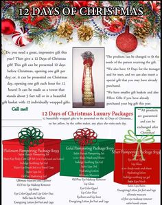 Mary Kay® 12 Days of Christmas with tracking sheets! http://www ...