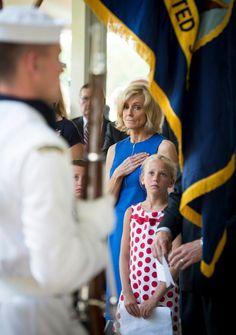 Neil Armstrong Family Memorial Service Carol Armstrong, wife of Neil Armstrong, and Piper Van Wagenen, one of 10 grandchildren