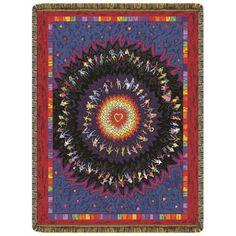 Rainbow Heart Throw   #yoga #blanket #healing #meditation #home #homedecor #decorating #reiki #spa #salon #healing #rainbow #heart
